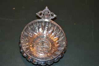 Spanish Silver Tasting Cup Taste Vin photo