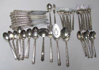 Vintage Oneida Rogers 1881 Silverplate Set / 47 Pieces photo