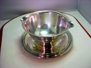 Vintage Wm Rogers Gravy Bowl Sauce Dish Silver Plated 913 photo