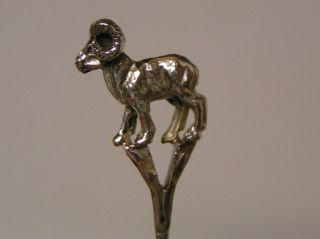 Salt Spoon (big Horn Sheep) Sterling Silver photo