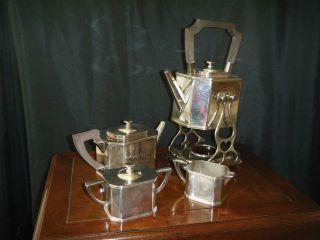 Fantastic Signed Sheffield Paul Revere Silver Co.  Boston Tea/coffee Set photo