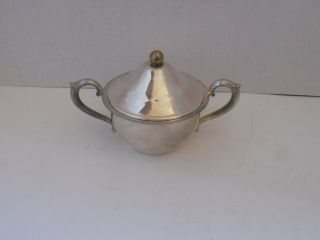 Vintage Silverplate Sugar Bowl By English Silver Mfg Corp photo