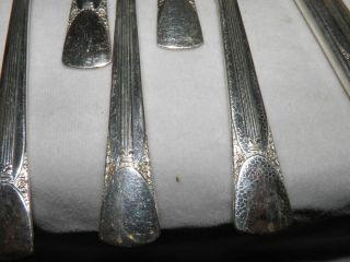 17 Pieces Embassy Silverplate Flatware - Bouquet photo