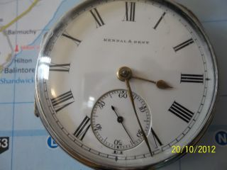 Kendal & Dent 1890 Open Faced Pocket Watch photo