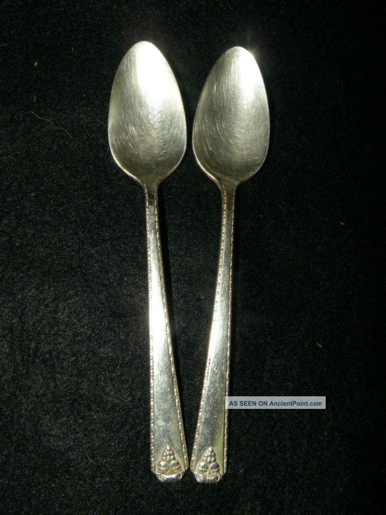 2 Tea Spoon - - Prestige Plate Bordeaux Other photo