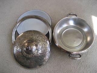Vintage Superior Silver Co Casserole Dish photo