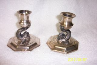 L B S Co 1910 Limited Edition Candlesticks Silverplated By Lawrence B Smith Co photo