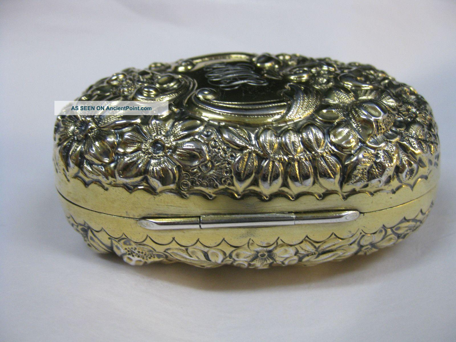 Sterling Silver English Soap Box United Kingdom photo