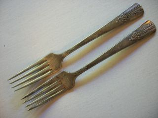 2 Matching Silverplate Vernon Forks Hd Photos photo