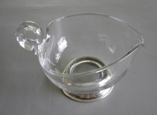 Glass And Sterling Pitcher - Mint photo