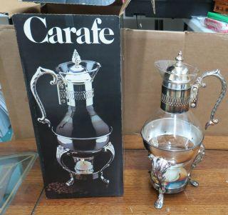 New Leonard Silverplate 10 Cup Carafe photo