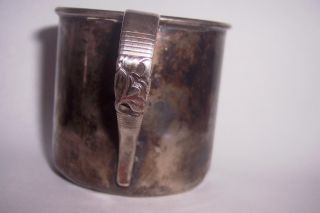 Vintage Community Silver Plated Childs Baby Cup Morning Star Pattern photo