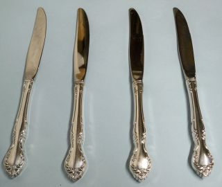 4 Affection Dinner Knives - Ornate 1960 Community - Floral - Clean & Table Ready photo