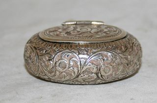 Antique Snuff Tobacco Box Sterling Silver Austro Hungary 19th Century photo