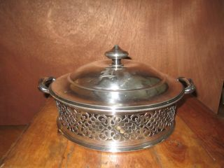 Reed And Barton Silverplate Covered Casserole Dish 1126 photo