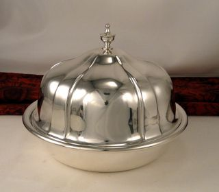 Vintage Thomas Stokes & Sons Australian Silver Plate 3 Pc Round Dome Butter Dish photo