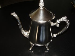 Vintage Teapot Coffee Tea Pot Silver Plate Silverplate 24oz 800ml 3 Qt 3qt 24 Oz photo