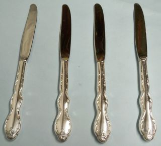 4 Camelot Melody Dinner Knives - Ornate 1964 Rogers - - Clean & Table Ready photo