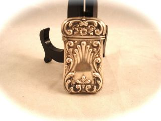 Antique Victorian Sterling Silver Match Safe, ,  Prime Example photo