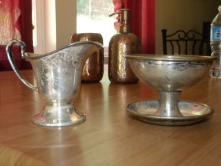 2 Piece Nickel Silver Electroplate Benedict Sheffield,  K.  S.  Cup Pitcher photo