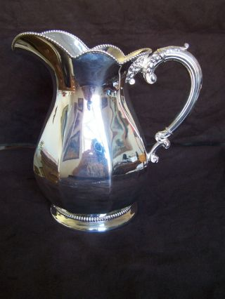 Silverplate Pitcher Wilcox Silver Plat Co.  Meriden Ct.  No Scratches No Dents Vg+ photo