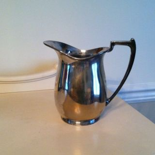 Vintage U J E P Hallmark H83 Silverplated Water Pitcher photo