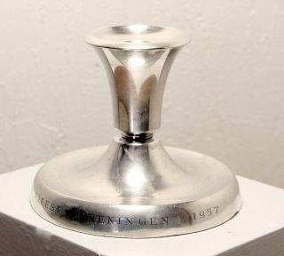 Vintage David Andersen 830 Silver Candlestick Norway Award Cerebral Palsy photo