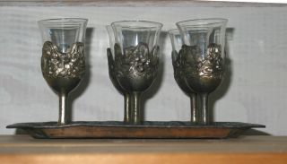 Rare Apertif Set Made In Japan - Delightful Set Of Glasses And Tray photo