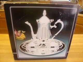 4 Piece Silverplate Coffee Set Service Set With Box photo
