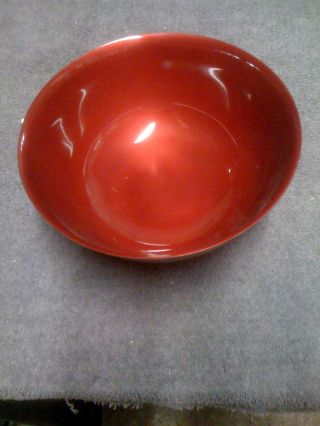 Reed & Barton Orig/tags Large Red Bowl photo