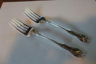 Pair Gorham Silverplate Salad Forks New Elegance photo