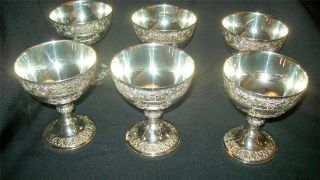 Set Of 6 Vintage C & Co.  Ornate Silver Plate Coupe Shape Serving Pieces photo