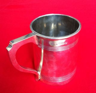 Georgian Sterling Solid Silver Tankard,  1931,  Birmingham,  309g,  Perfect Con photo