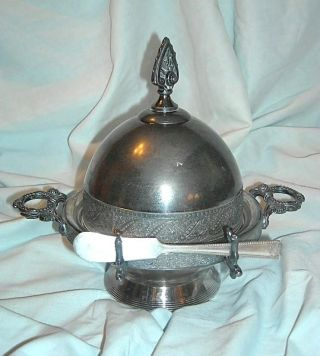 Butter Dish Silverplate By Meriden Co photo