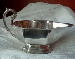 Quality Antique Vintage Silverplate Gravy Sauce Boat Jugs photo