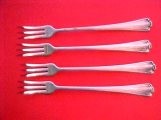 4 Medco A1 Silver Plate Flatware Cocktail,  Shrimp,  Seafood Forks Med Co photo