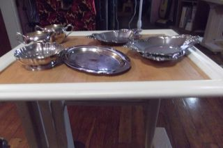 Seven Pieces Of Silverplate Items For One Bid.  Int ' L,  Wallace,  Etc. photo