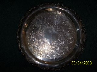 W,  M.  A.  Rogers Silverplate Platter Vintage photo