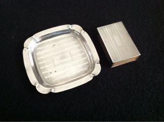 Sterling Match Box And Tray photo