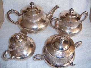James W.  Tufts Of Boston - Silver Tea Set - Victorian/ American Era - 4 Pcs. photo