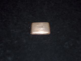 Antique Sterling Silver Cigarette Case photo