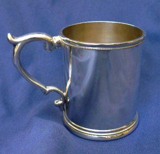 Antique Wood & Hughes New York American Coin Silver Cup Mug Beaker Ca 1850 photo