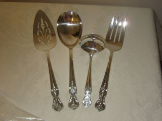 Wm.  Rogers Mfg Co Extra Plate Hostess Serving Set - Magnolia - Silverplate photo