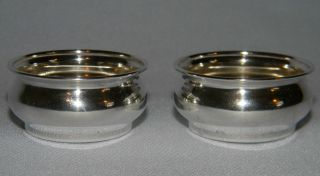 Antique Webster Sterling Silver Salt Cellar Pair photo