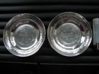 Vintage Eastern Fine Hi Grade Silver Ornate Caviar Dishes 110g A1 Uk Freepost Nr photo
