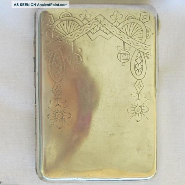 Imperial Russian Silver (84) Cigarette Case 128gr Russia photo