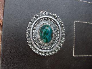 950 Silver Pendant / Brooch Jerusalem photo
