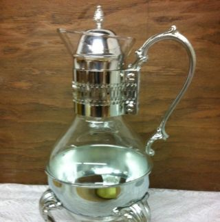 Elegant Antique Vintage Silver Plate Carafe Entertaining In Style photo