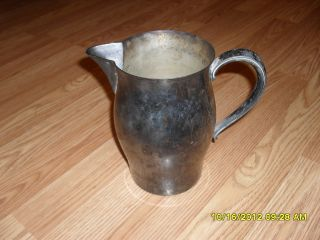 Silver Plated Water Pitcher By Wm Rogers photo