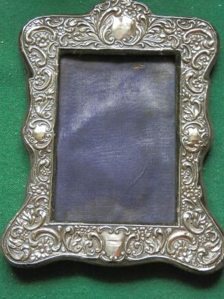 Solid Silver Antique Photograph Frame Marked Chester1905 J & R? Maker 8